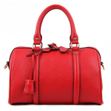 Jenny Genuine Leather Tote Bag Red 75273