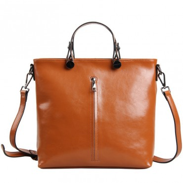 Pansy Genuine Leather Tote Bag Brown 75275
