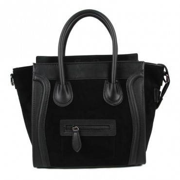 Avery Genuine Leather Satchel Bag Black 75304