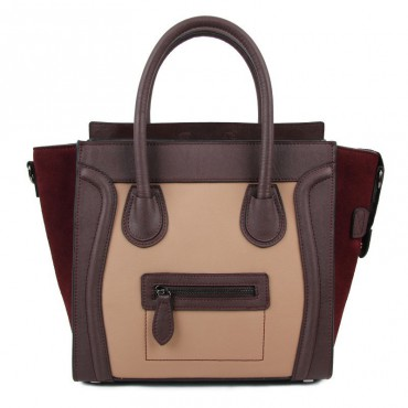 Avery Genuine Leather Satchel Bag Purple Apricot 75304