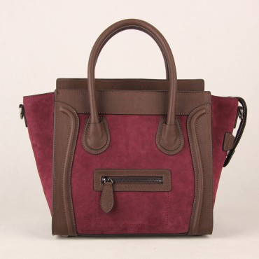 Avery Genuine Leather Satchel Bag Brown Red 75304