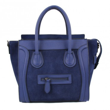 Avery Genuine Leather Satchel Bag Dark Blue 75304
