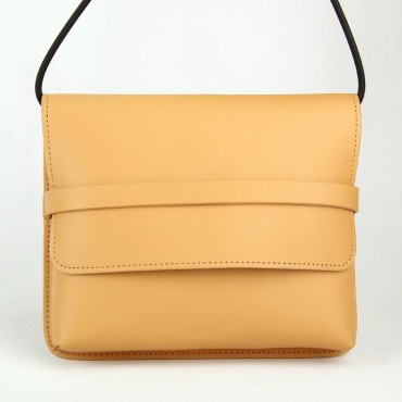 Brent Genuine Leather Tote Bag Apricot 75303