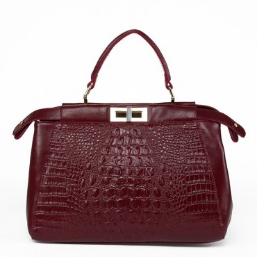 Tania Genuine Leather Tote Bag Wine 75177