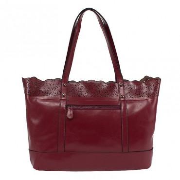 Hermione Genuine Leather Tote Bag Purple 75189