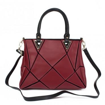 Soleine Genuine Leather Tote Bag Purple 75190