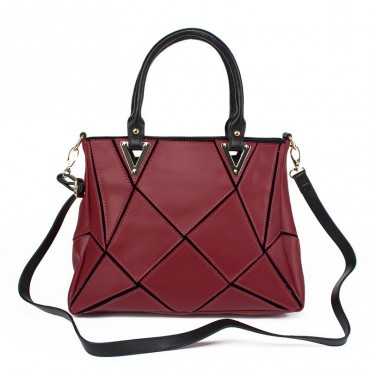 Soleine Sac à Main Shopping Cabas en Vrai Cuir de Violet 75190