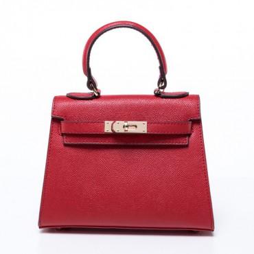 Lester Genuine Leather Satchel Bag Red 75351