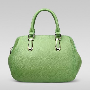 Genuine Leather Tote Bag Green 75557