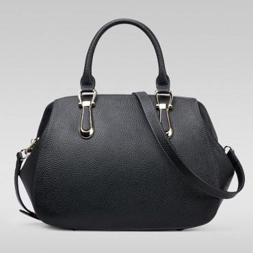 Genuine Leather Tote Bag Black 75557