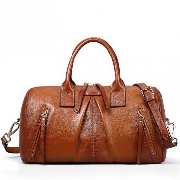 Genuine Leather Tote Bag Brown 75562