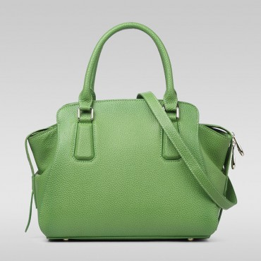 Genuine Leather Tote Bag Green 75569