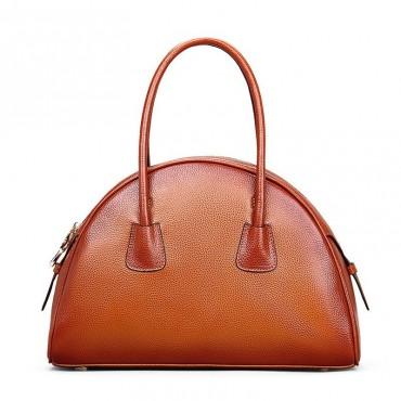 Genuine Leather Tote Bag Brown 75563