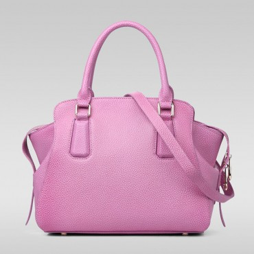 Genuine Leather Tote Bag Pink 75569