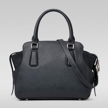 Genuine Leather Tote Bag Black 75569