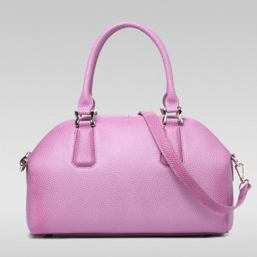 Genuine Leather Tote Bag Pink 75572