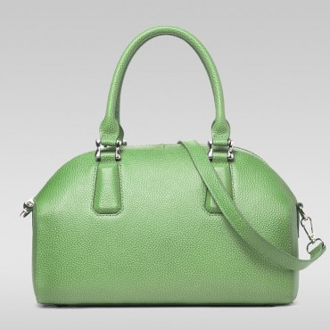 Genuine Leather Tote Bag Green 75572