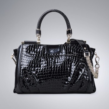 Genuine Leather Tote Bag Black 75574