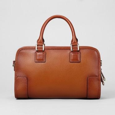 Genuine Leather Tote Bag Brown 75581