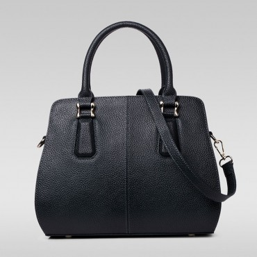 Genuine Leather Tote Bag Black 75582