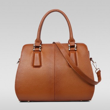 Genuine Leather Tote Bag Clay 75582