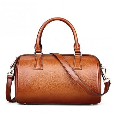 Genuine Leather Tote Bag Brown 75586