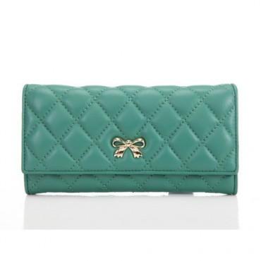 Portefeuille en cuir Vert 65116