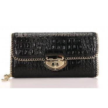 Portefeuille en cuir Noir 65117