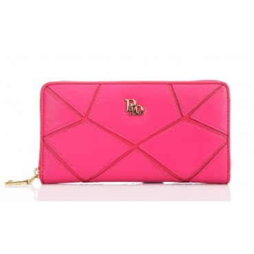 Genuine Lambskin Leather Wallet Red 65118