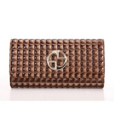 Genuine cowhide Leather Wallet Brown 65119