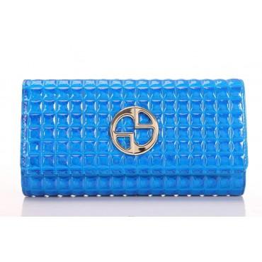 Portefeuille en cuir Bleu 65119