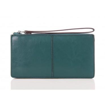 Portefeuille en cuir Vert 65120