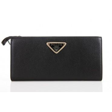 Portefeuille en cuir Noir 65121