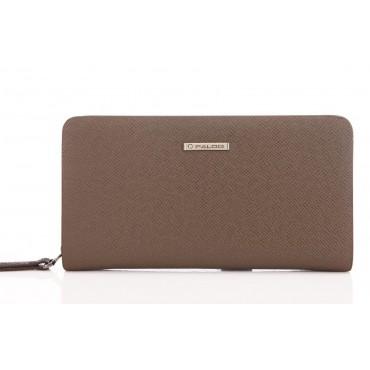 Genuine cowhide Leather Wallet Brown 65123