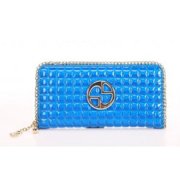 Portefeuille en cuir Bleu 65124