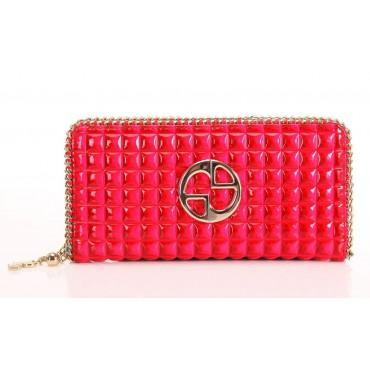 Portefeuille en cuir Rouge 65124