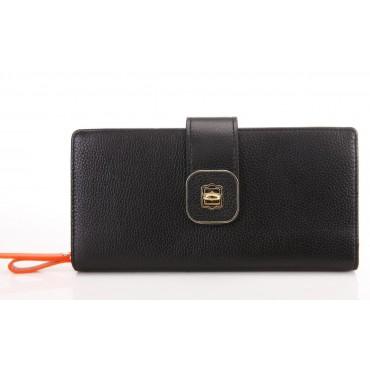 Portefeuille en cuir Noir 65125