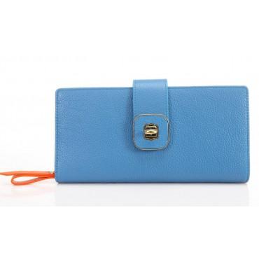 Portefeuille en cuir Bleu 65125