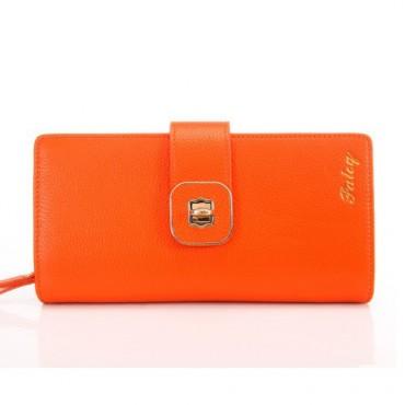 Portefeuille en cuir Orange 65125