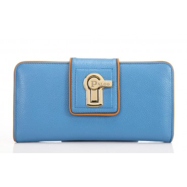 Portefeuille en cuir Bleu 64126
