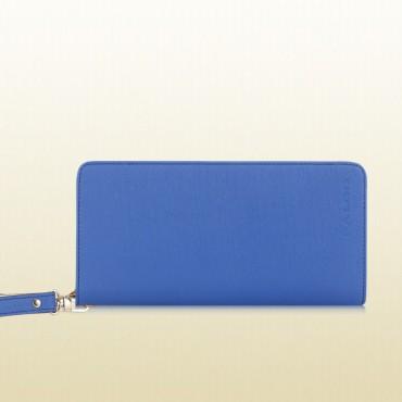 Genuine Leather Clutch Bag Blue 75635