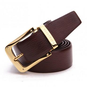 Genuine Cowhide Leather Belt Brown 86302