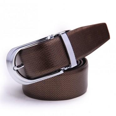 Genuine Cowhide Leather Belt Brown 86304