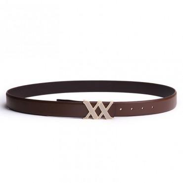 Genuine Cowhide Leather Belt Brown 86307