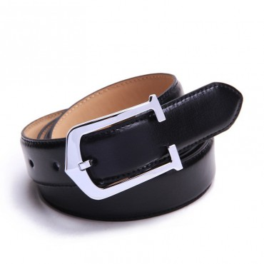 Genuine Cowhide Leather Belt Black 86308