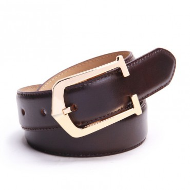 Genuine Cowhide Leather Belt Brown 86308