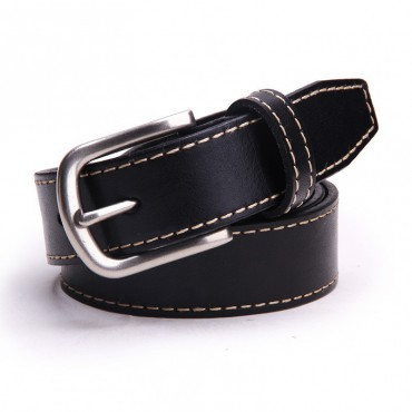 Genuine Cowhide Leather Belt Black 86309