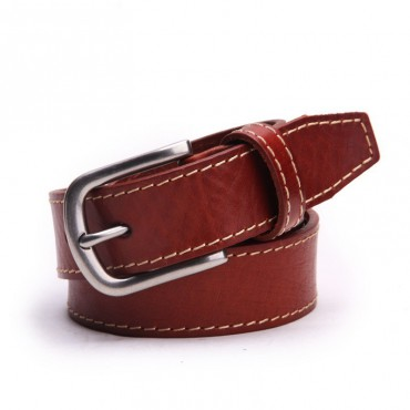 Genuine Cowhide Leather Belt Brown 86309