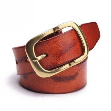 Genuine Cowhide Leather Belt Brown 86310