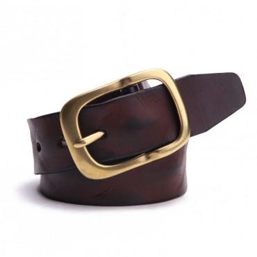 Genuine Cowhide Leather Belt Red Brown 86310